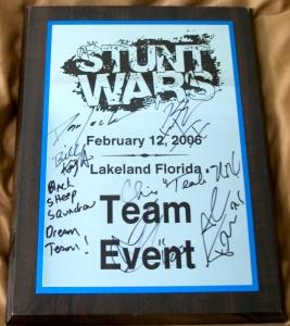 Stunt Wars Plaque